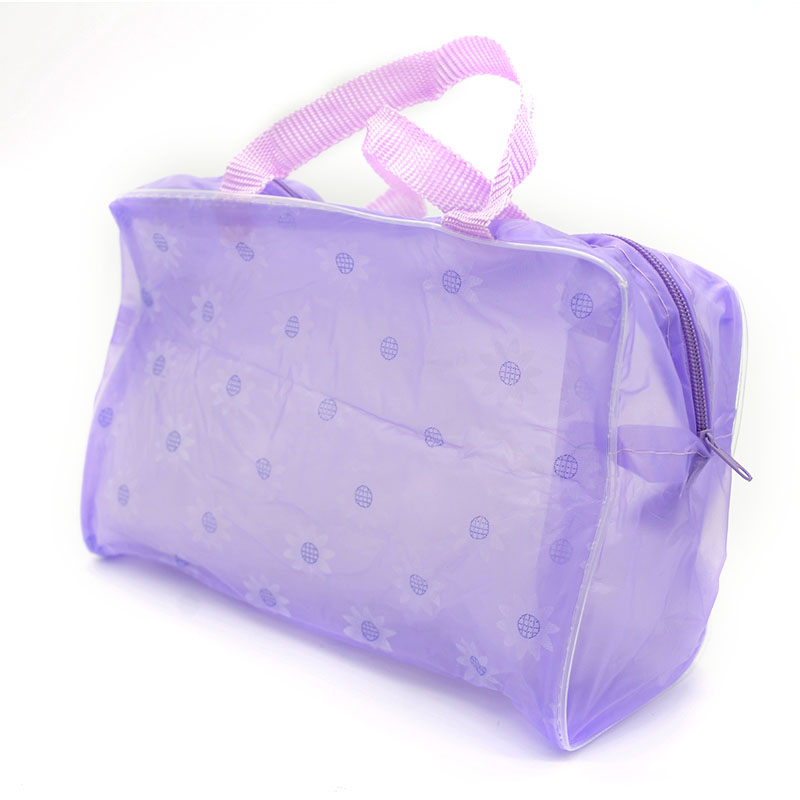 2018 New Fashion Cute Hot Floral Print Makeup Bags Transparent Waterproof Cosmetic Bags Case Toiletry Bathing Pouch