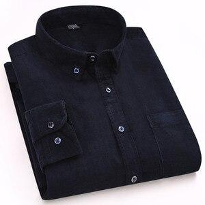 Image 5 - 2019 100% القطن الرجال قميص ربيع الخريف ملابس للرجال الصلبة لينة سروال قصير رجل قمصان رشاقته حجم كبير الذكور قميص YN10416