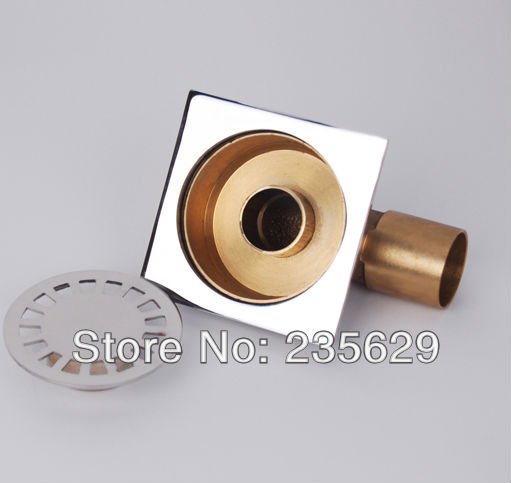 ФОТО Free Shipping, High quality Brass floor drain,Anti odor, Anti water backing, Anti virus,Chrome Plated Surface, Diameter is 40mm