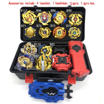 New Golden beyblades launcher bayblades Storage Box Toys Toupie Metal Fusion God Golden bay blade Spinning Top Toy set image