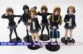6pcs/lot Japanese anime figure 10cm k-on!action figure best Christmas kids toys Akiyamn Mio Yui Hirasawa school uniform Cartoon