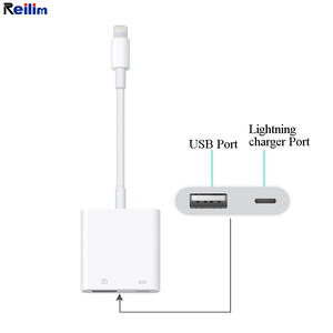 Reilim OTG USB Camera adapter for Apple Lightning to USB OTG Converter