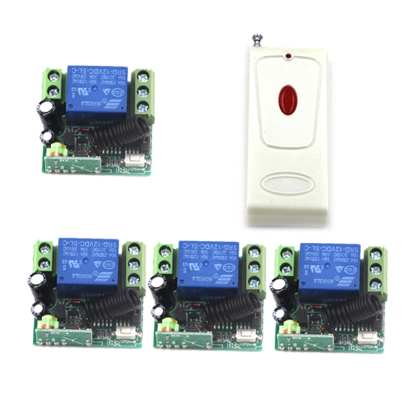 DC 12V 1 CH 10A Relay Receiver Wireless Remote Control Switch 315/433.92 RF Radio Frequency Learning Code Momentary Toggle 4398 new rf wireless switch wireless remote control system 2transmitter 12receiver 1ch toggle momentary latched learning code 315 433