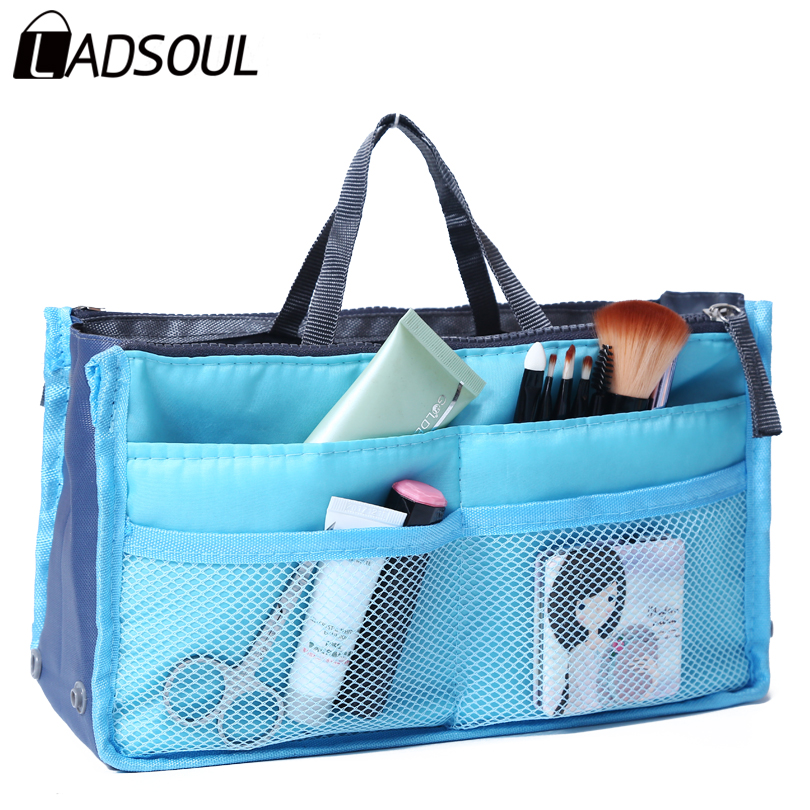 Ladsoul 2017 Women Multifunction Makeup Organizer Bag Women Cosmetic Bags Ourdoor Travel Storage Bag Make up Wash Bags lm2136/g