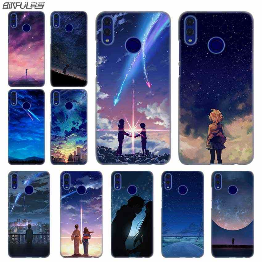 Fashion luxury Phone cose cover for Huawei Honor 10i 8 8X 9X 10 Lite 4C 5X 6 6X 6C 7a 20 Pro 7X starry day anime