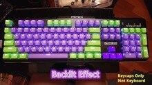 104 ключей EVA фиолетовый PBT подсветкой Keycap ключ шапки Чехлы для клавиш ANSI макет OEM профиль для Cherry MX Игры Механическая клавиатура