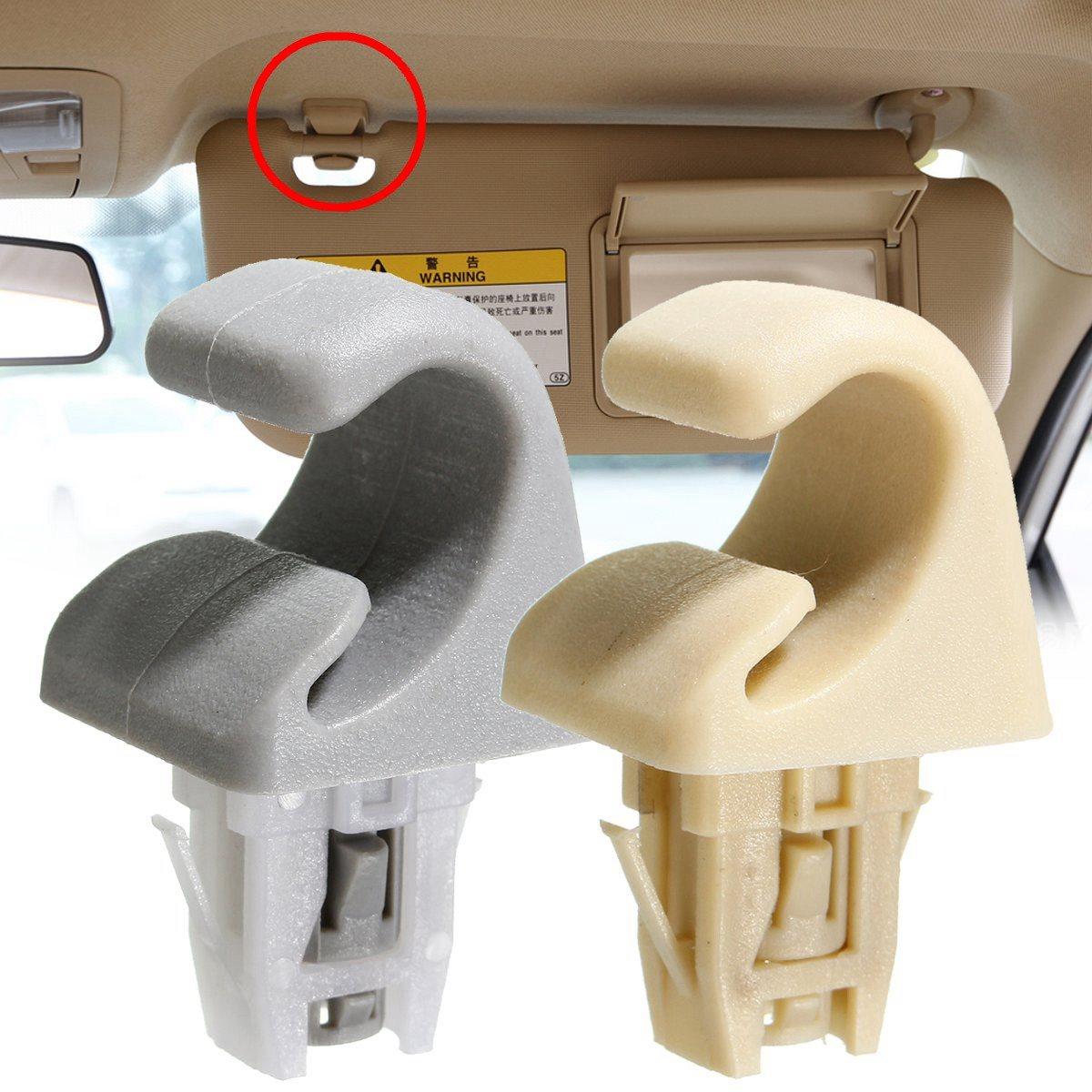 Gray beige sun visor hook clip bracket hanger fit for toyota camry corolla highlander rav4 prius solara 2001 2007 2003 2012