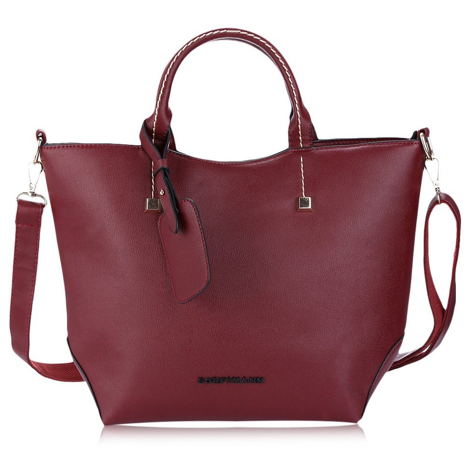Y Red Large Pu Leather Women S Handbag Brands Elegant Las Messenger Bags Sacthel Purse Crossbody Tote Black Bag Whole Fox