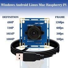 1080P full hd mjpeg 30 кадр./сек. / 60 кадр./сек. / 120 кадр./сек. CMOS OV2710 широкоугольная мини камера видеонаблюдения Usb Модуль Камера  на на андроид linux raspberry pi, Windows