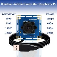 1080p Full Hd MJPEG 30fps/60fps/120fps High Speed CMOS OV2710 Wide Angle Mini CCTV Android Linux UVC Webcam Usb Camera Module(China)