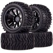 4pcs Tires Tyre 12MM HEX Rim Wheel for RC 1 10 HSP HPI Traxxas Monster Truck