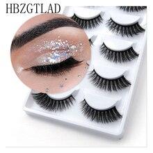 250 pares/50 caixa 100% vison real cílios falsos 3d natural cílios postiços 3d vison cílios macios extensão cílios maquiagem kit