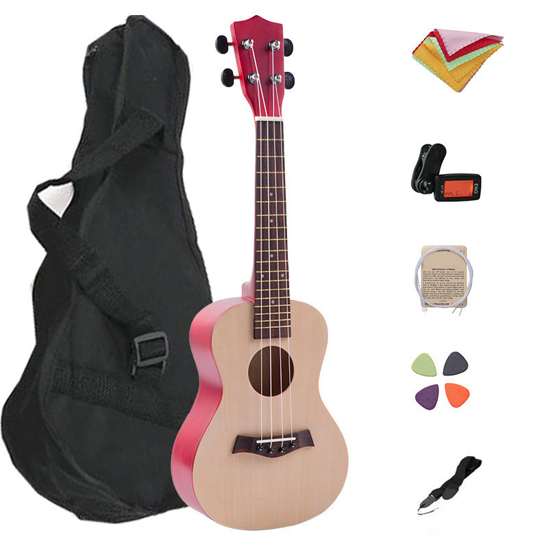 23 Inches 18 Frets Ukulele Guitar Uke Sapele 4 Strings Hawaiian Guitar With Bag Strap Tuner Wiper Spare String Pick ...