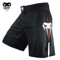 Homme noir bleu combat boxe Fitness respirant séchage rapide pantalon short de boxe muaythai shorts tigre Muay Thai shorts mma boxeo