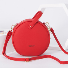 WEICHEN Circular Design Women Shoulder Bag Leather Small Crossbody Messenger Bags For Ladies Round Female Handbag Bolsa