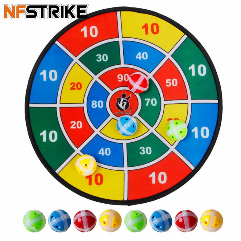 NFSTRIKE interiores de deporte al aire libre juguete Social padre-hijo juego de seguridad tablero de dardos con 8 bolas de deportes Juguetes para los niños 2018
