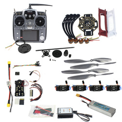 DIY FPV Drone Quadcopter 4-axle Aircraft Kit 450 Frame PXI PX4 Flight Control 920KV Motor GPS AT10 Transmitter Props