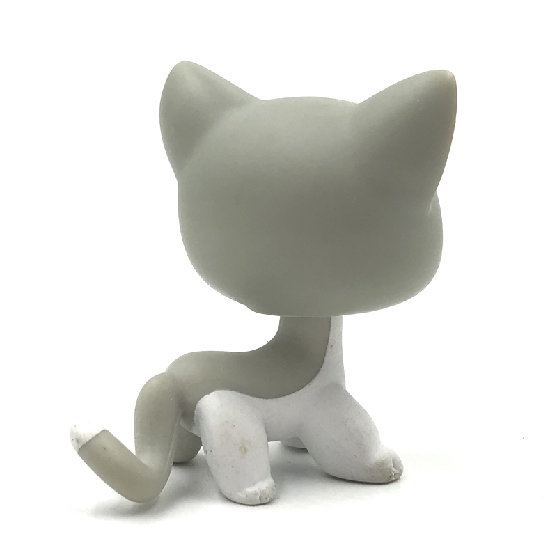 LPS #138 Grey /& White with Green Brown Hazel Eyes