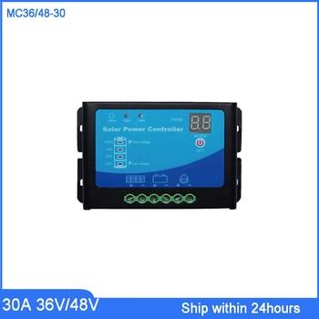 Smart Automatic 36V/48V 30A PWM Solar Charge Regulator with LED light/Soalr Panel Charge Regulator/E-bike Charging Controller