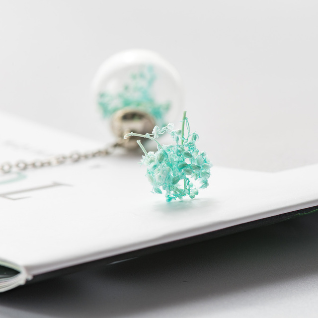 Boucles doreilles fleur séchée en forme de boule de verre boucles doreilles fantaisie bricolage boucles doreilles pendantes pour femmes # HZ229