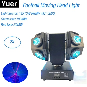 12X10W RGBW 4IN1 LED Beam Light Foot DMX512 Football Moving Head Professional DJ Bar Party Show Stage Laser
