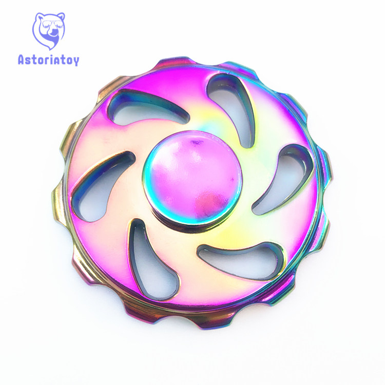 Colorful Fire Wheel Hand Spinners Metal Fidget Spinner For Autism And ADHD Kids Spiner     Finger Toy Fidget Spiner Skinner