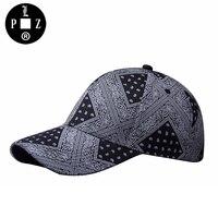 Plzはヒップホップブランド野球キャップ男性帽子カシュー花プリント太陽帽子ファッションストリートユニセックスパラッパラッパーbboyスナップバックキャップ女