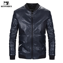 KENNTRICE Черная Куртка Размер 4xl искусственная кожа полиуретан куртка мужская приталенная Байкерская кожаная куртка с вышивкой мужская одежда