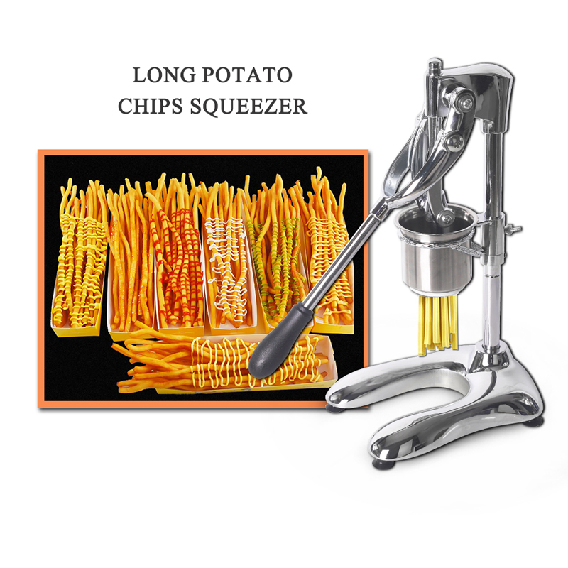 Manual Potato Chip Squeezers 30cm Long French Fries Cutters Aluminum Alloy American Fried Potato Chip Maker French Fries Cutter potato slicer
