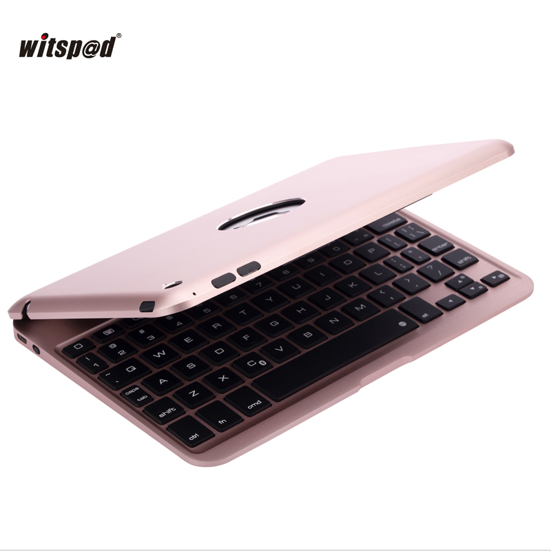 Witsp@d For IPAD mini 4 Backlit Aluminum Luxuary Bluetooth Keyboard with Protective Clamshell Cover and 2800 mAh Battery laptop keyboard for hp for envy 4 1014tu 4 1014tx 4 1015tu 4 1015tx 4 1018tu backlit northwest africa 692759 fp1 mp 11m6j698w