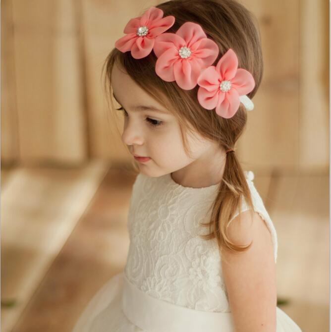2018 New Ribbon Pearl Diamond 3 Flowers Headband Newborn Kids Hairband Hot  Sale Hair bands Sewing Hair Accessories for Girls-in Hair Accessories from  Mother ... 13f16c8b796