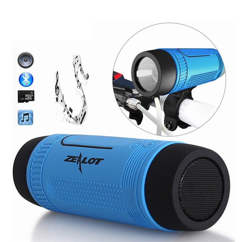Original S1 Bluetooth Speaker LED light Wireless Portable Speakers Outdoor Waterproof Torchlight Power Bank FM