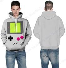 Пышными pacman скейтбординга кофты пуловеры хип-хоп карман серый рукавами толстовки капюшоном