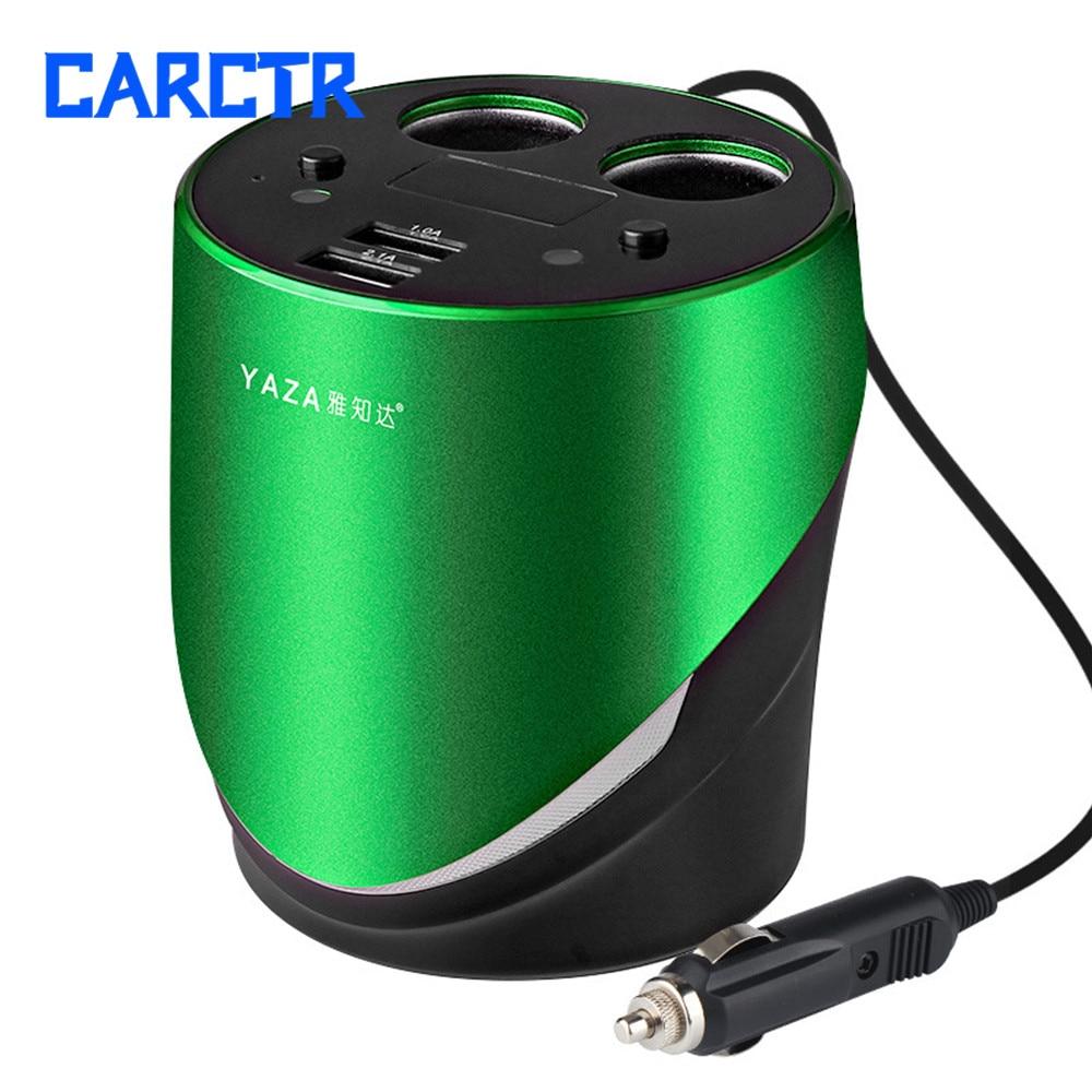 Multifunctional Car Charger USB Digital Display High Power Vehicle Cigarette Lighter 12V Splitter Houder Auto Car Accesories V11
