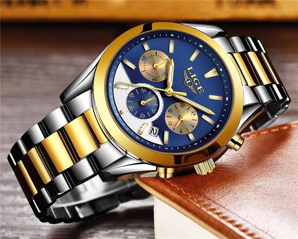 LIGE Watches 9872