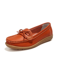 Women Shoes 2018 Fashion Breathable Loafers Flats Shoes Woman Tenis Feminino Genuine Leather Lace Up Boat