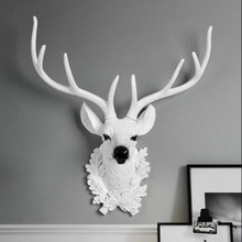 Deer head decoration Wall mount Lucky Nordic style town house living room clothing store background wall Wall decoration