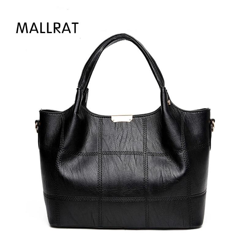 MALLRA Thread Tote Bag Women Leather Handbags Famale Messenger Bags Solid Crossbody Bags For Women Bag Sac A Main Bolsa Feminina велосипед stels navigator 250 2016