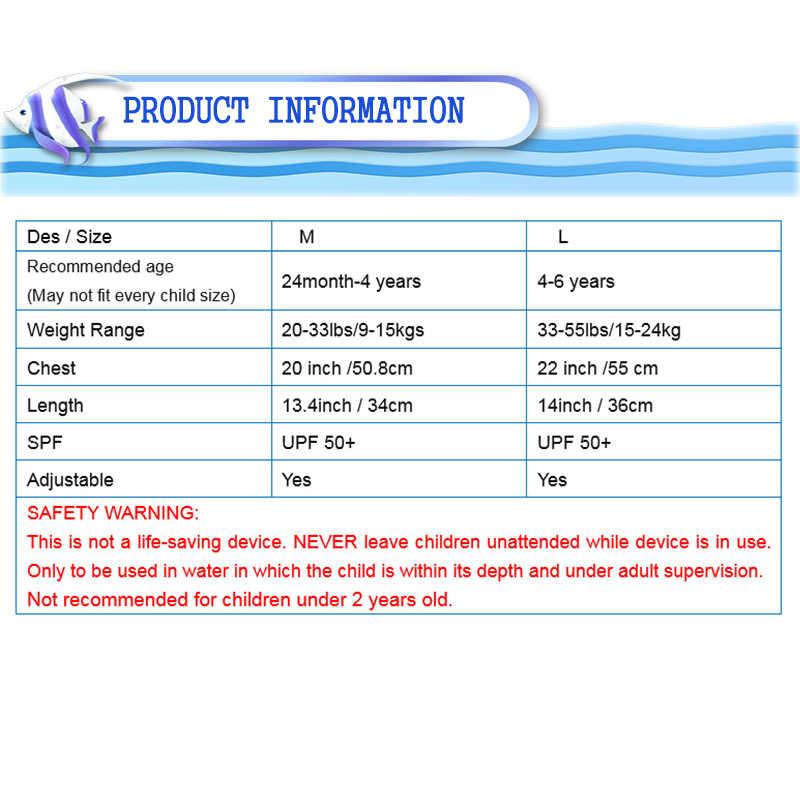 Erapinky 2-6 Jaar Blauw Krokodil Kids Zwemvest Kind Zwemvest Baby Float Vest Badmode Meisjes Jongens Peuter water Park Vest