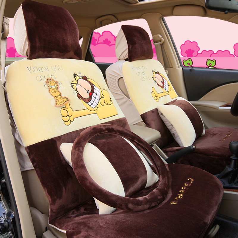Full Cartoon Comfortable Autumn And Winter Car Seat Cover