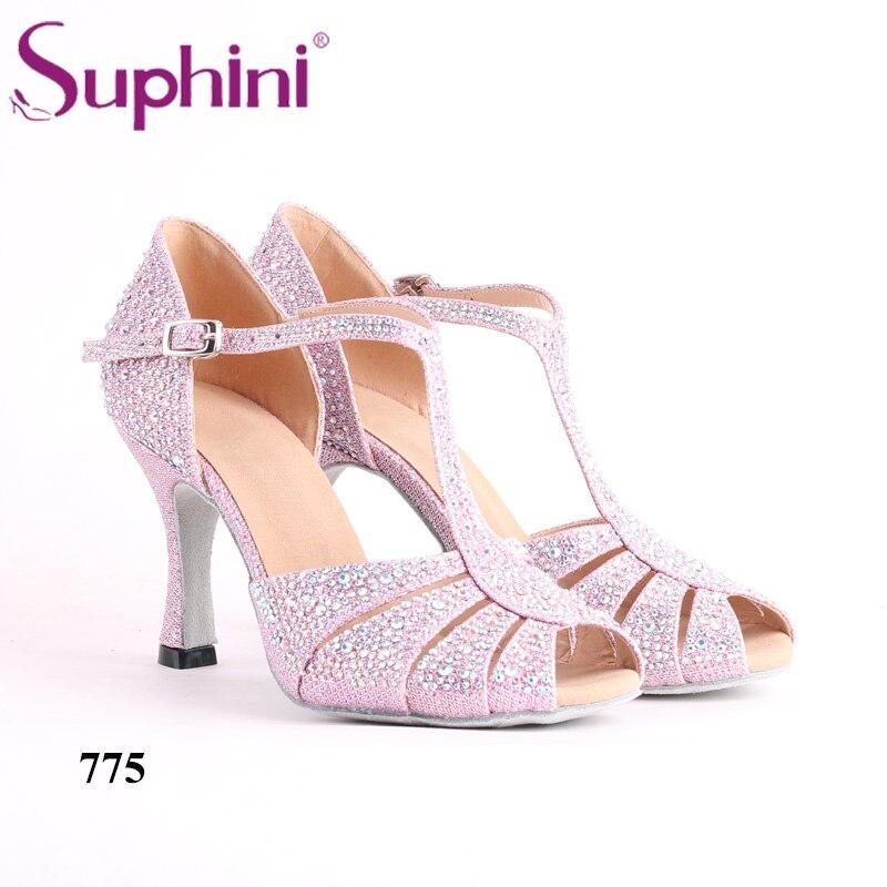 Suphini chaussures de danse latine paillettes colorées femmes livraison gratuite