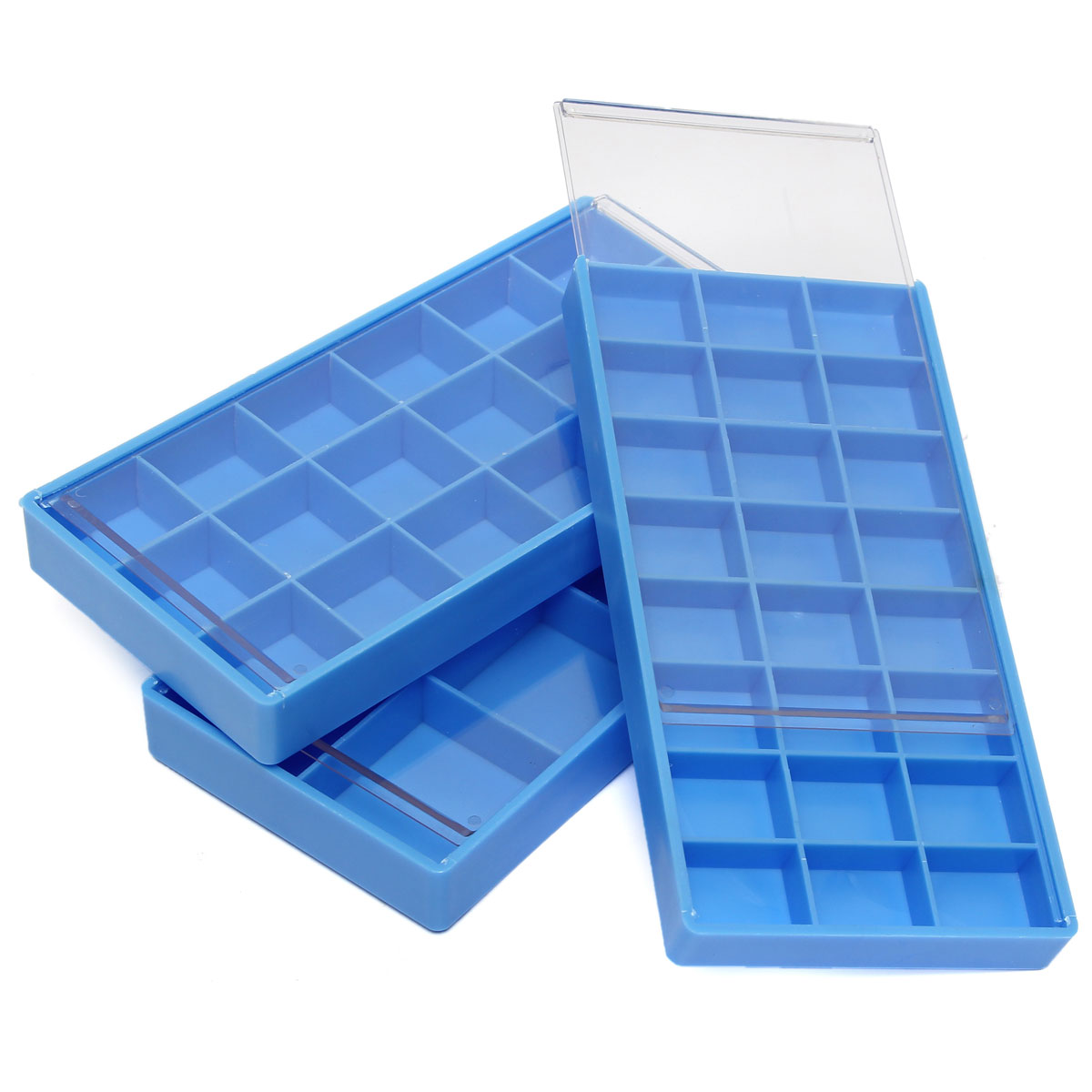 8/18/24 Grid Blue Storage Box Case Container Divider For Hook Tiny Jewelry