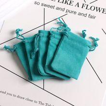 5x7 см Голубое озеро бархатные сумки на завязках мягкие маленькие ювелирные изделия подарочные упаковочные сумки 10 шт