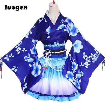 Sonoda Umi Kimono szlafrok sukienka Anime kochaj życie Cosplay YUKATA seria Janpanese letnie słodkie dziewczyny kostiumy do przebierania od hakuouki Anime