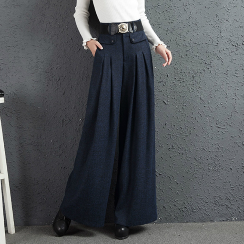 2018 autumn and winter Fashion casual plus size loose thick high waist female women girls clothes wide leg pants trousers