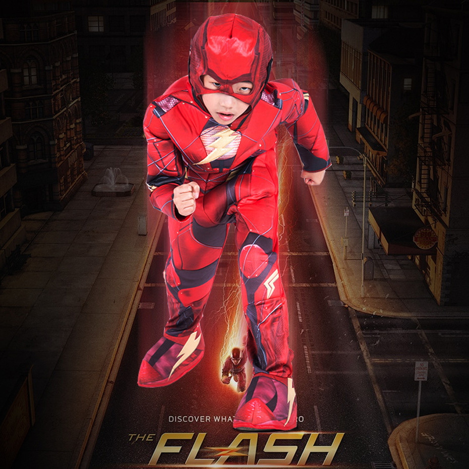Printed Flash cosplay justice league show Fantasy Comics Movie Carnival Party Purim Halloween Cosplay Costumes image