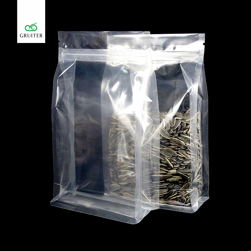 Us 67 29 Whole Top Quality 100 Full Clear Glossy Mylar Bags Flat Bottom Stand Up Zip Lock Pe Pa Thick 18x28 8cm 7x11 3in In Storage