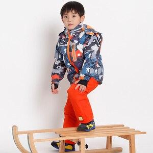 Image 2 - Ensembles de vêtements imperméables épais pour enfants, combinaison de Ski pour bébés filles et garçons, vêtements pour enfants de 4 à 16 ans, vêtements dextérieur pour enfants