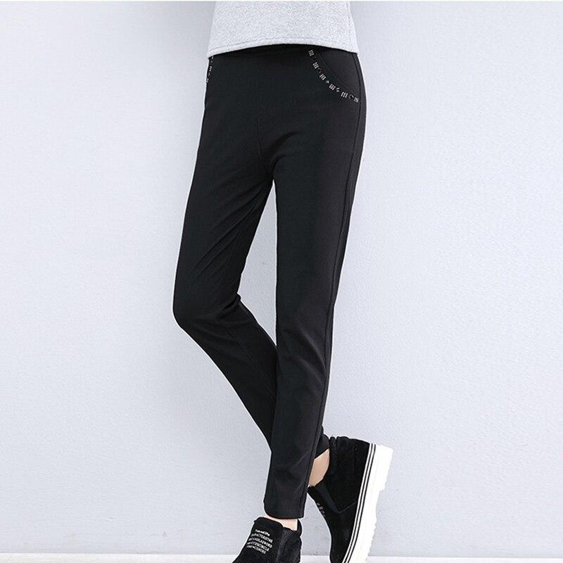 Women Pants 2019 Spring Autumn Pencil Pants Slim Casual Female Cotton Trousers Black 7xl Plus Size Women Fashion Ankle-Length