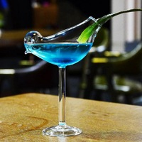 Creative Bird Cocktail Glass Personality Molecular Smoked Modelling Glass Fantasy Wine Goblet